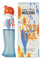 Moschino Cheap & Chic I Love Love туалетная вода 100 ml. (Москино Чип энд Шик Ай Лав Лав), фото 1