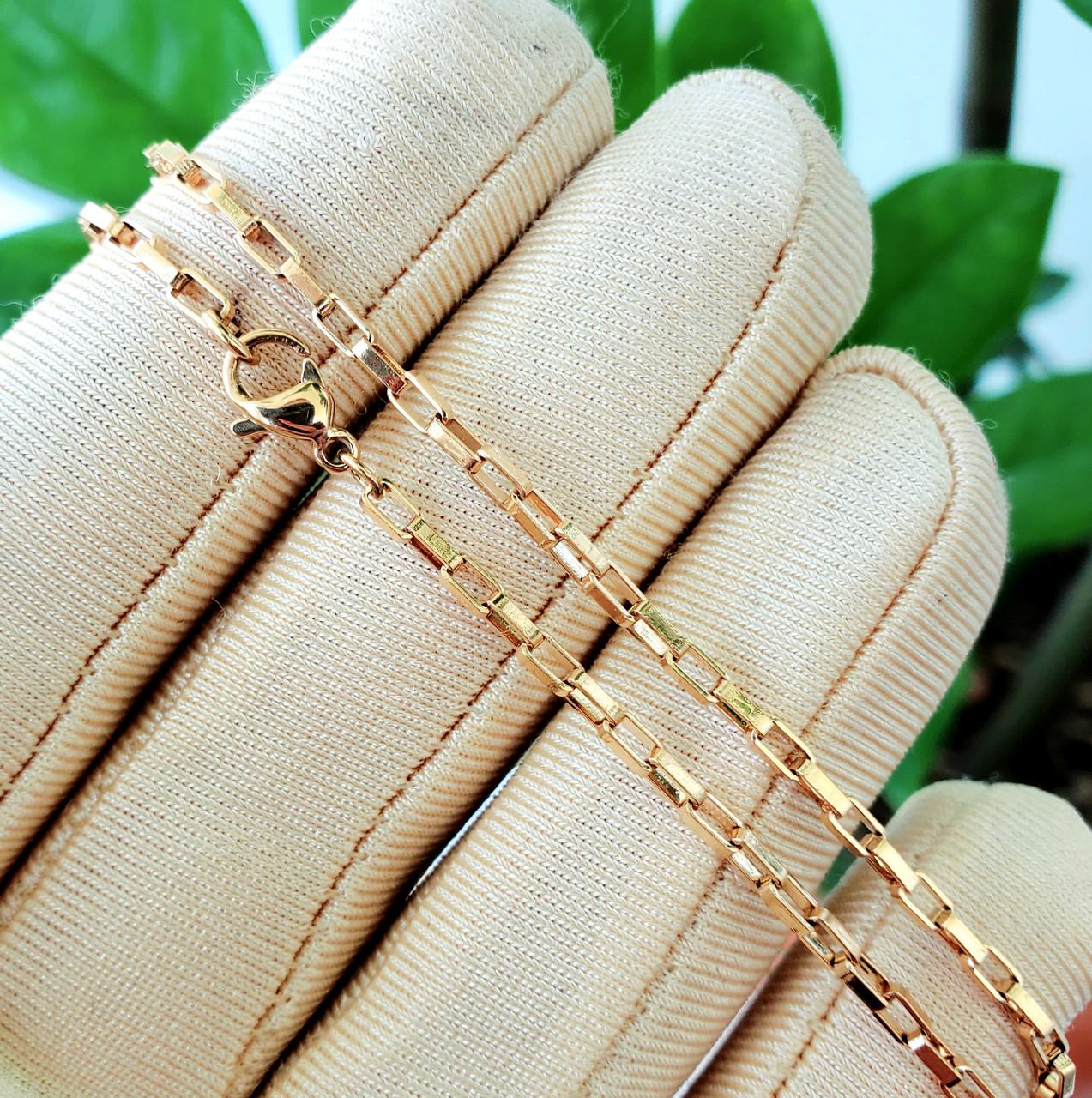Ланцюжок xuping 2мм 50см медичне золото позолота 18К якірне плетення ц664