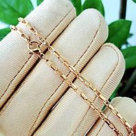 Ланцюжок xuping 2мм 50см медичне золото позолота 18К якірне плетення ц664, фото 1