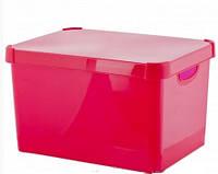 Ящик для хранения Deco's Colors 23л розовый