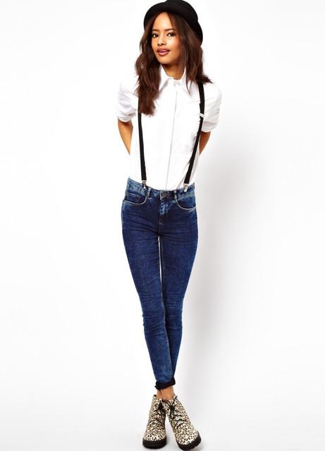 Женские джинсы с подтяжками: носим правильно