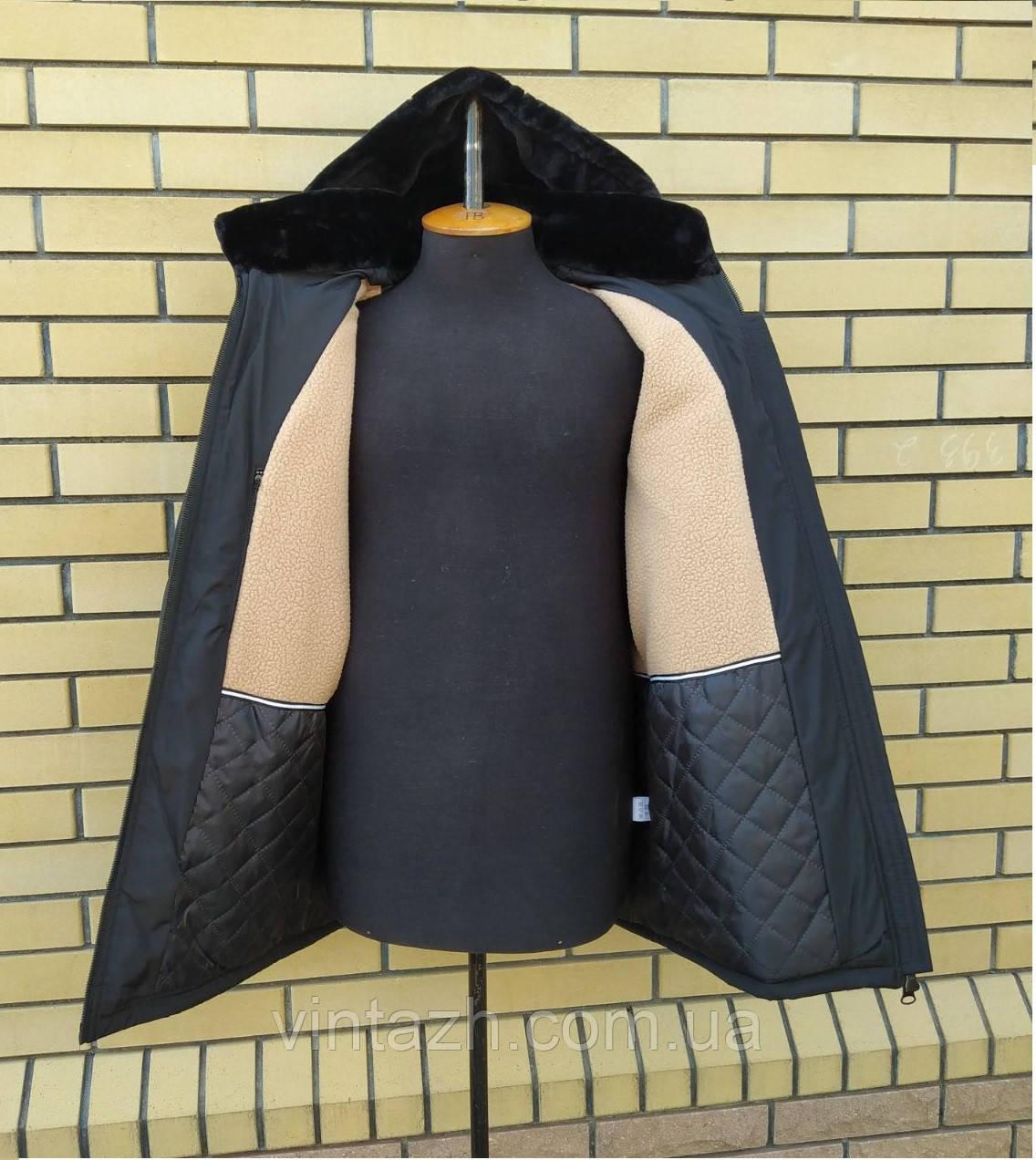 Тёплая зимняя мужская куртка на меху размеры 50-62