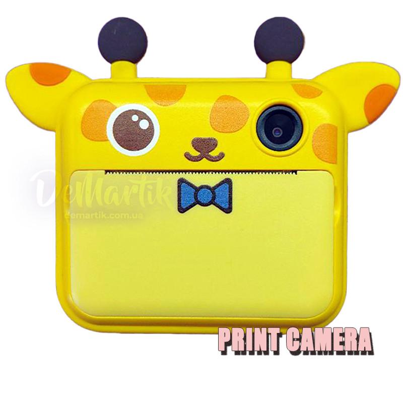 Детский цифровой фотоаппарат Моментальной печати Giraffe Оригинал c Селфи