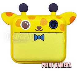 Дитячий цифровий фотоапарат Моментальної друку Giraffe Оригінал c Селфи
