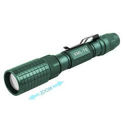 Фонарь Police 2804S-T6, ЗУ 220V, 2x18650, zoom, зажим, Box