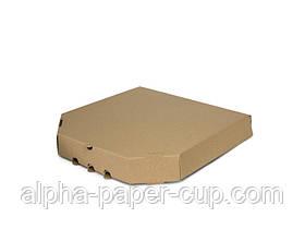 Коробка для пиццы 420*420*40 бурая, 50 шт/уп