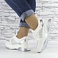 Кросівки жіночі білі зі стразами еко шкіра (b-510), фото 4