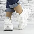 Кросівки жіночі білі зі стразами еко шкіра (b-510), фото 5