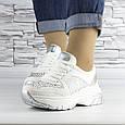Кросівки жіночі білі зі стразами еко шкіра (b-510), фото 7