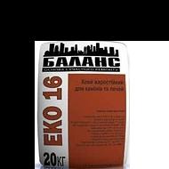 ЭКО-16 Клей жаростойкий для каминов и печей до 200 гр - 20 кг