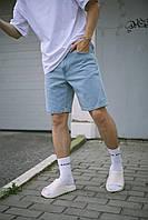 Джинсові шорти чоловічі вільної посадки блакитні Denim, шорти коттонові джинс на літо Денім