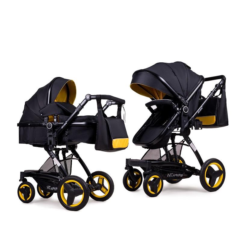 Детская коляска трансформер 2в1 Ninos Bono Yellow