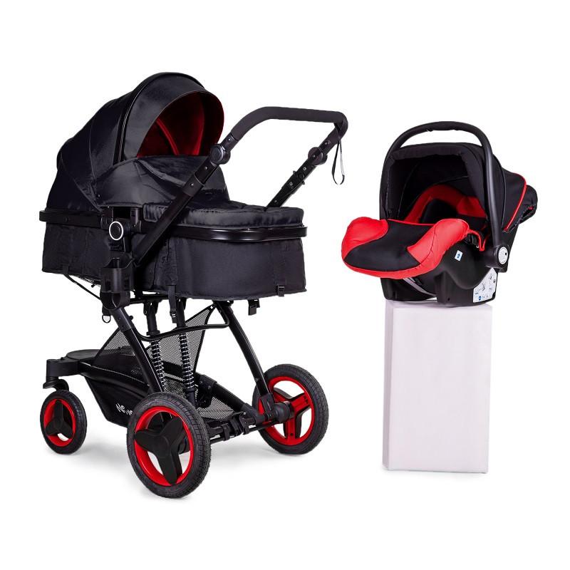 Детская коляска 3в1 трансформер Ninos Bono Red + автокресло