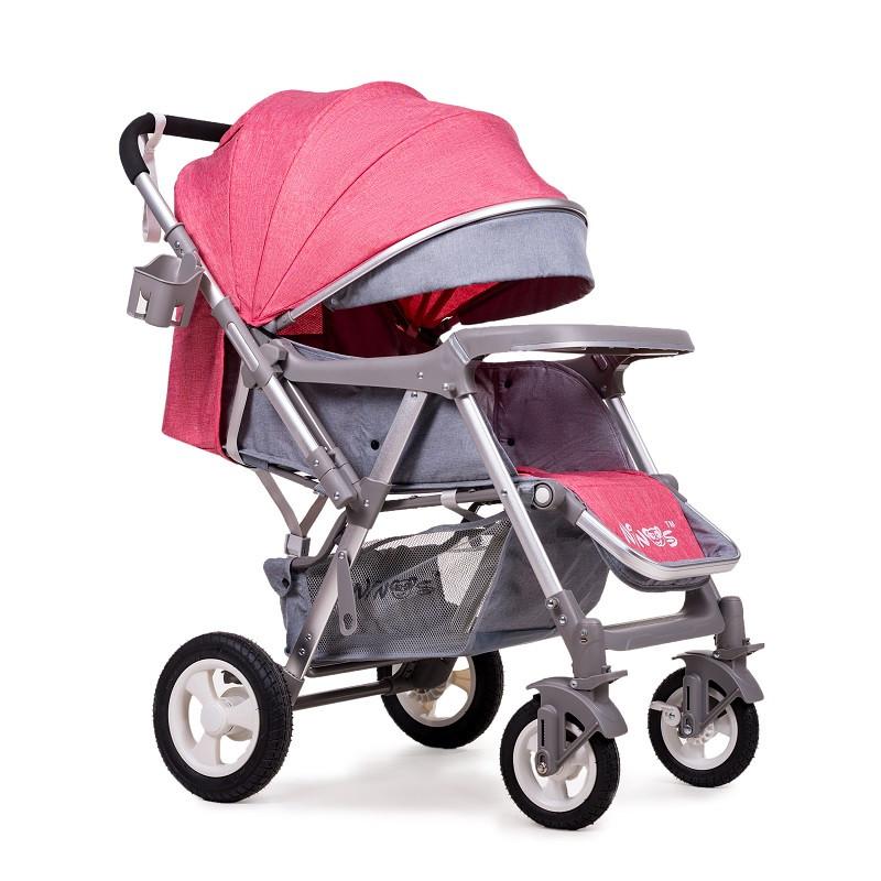 Дитяча прогулянкова коляска Ninos Maxi Pink