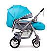Детская прогулочная коляска Ninos Maxi Blue, фото 4