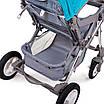 Детская прогулочная коляска Ninos Maxi Blue, фото 6