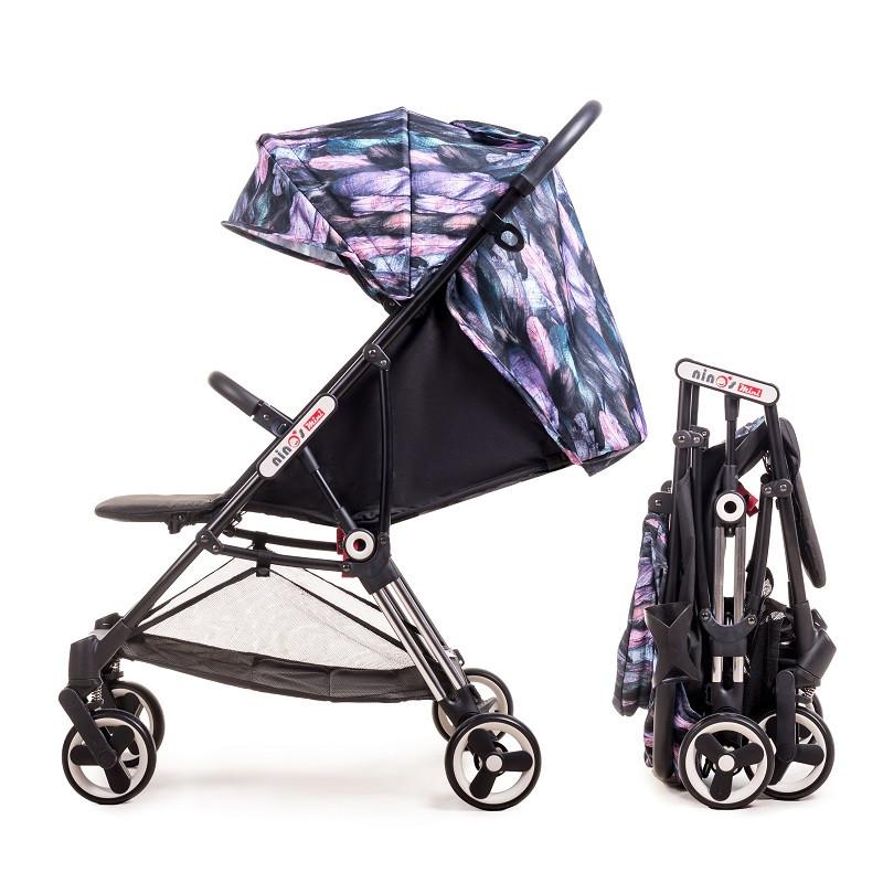 Дитяча прогулянкова коляска Ninos Mini Purple Bird 5.8 кг