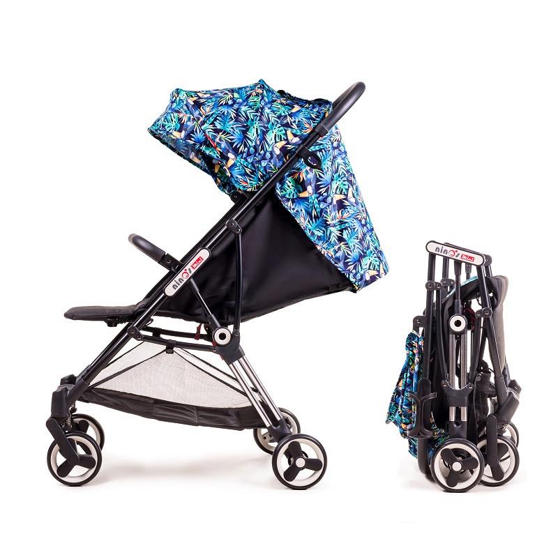 Дитяча прогулянкова коляска Ninos Mini Blue Jungle 5.8 кг