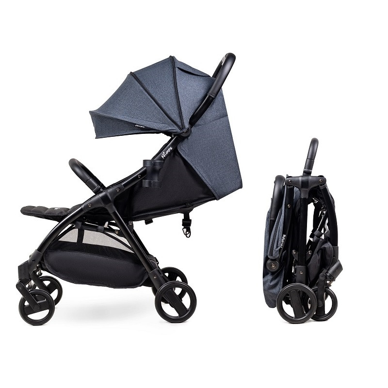 Детская компактная коляска Ninos Air Dark Grey New + бесплатная доставка