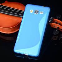 Силиконовый чехол Duotone для Samsung Galaxy J5 голубой