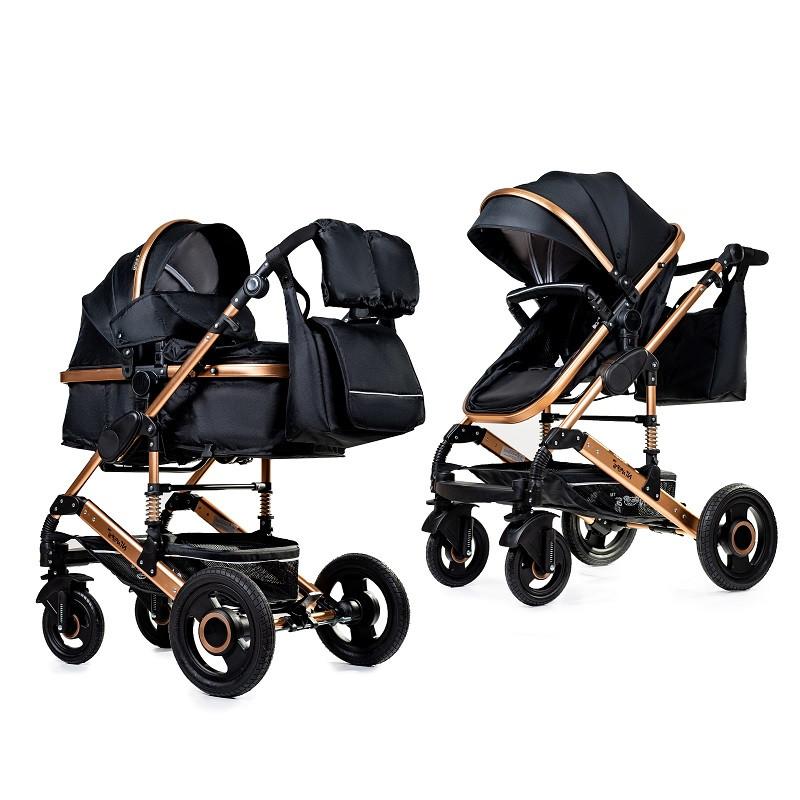 Детская универсальная коляска 2в1 трансформер Ninos Freelander Black