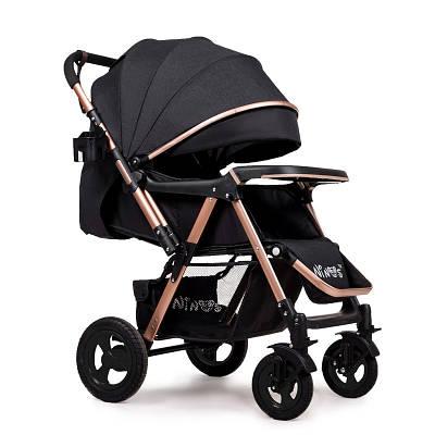 Дитяча прогулянкова коляска Ninos Maxi Black