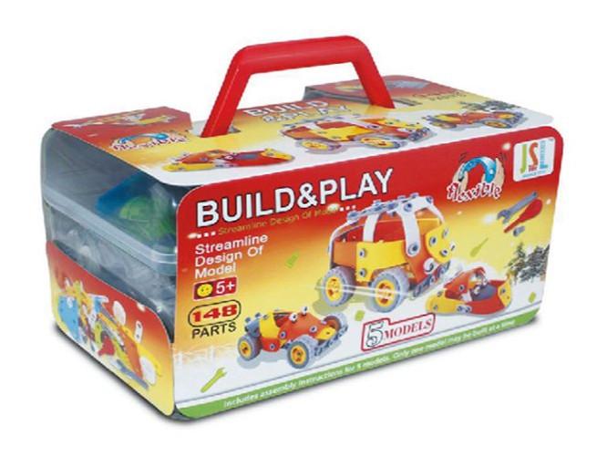 Конструктор Build&Play 5 в 1 Автобус 148 эл. (J-202)