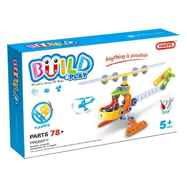 Конструктор Build&Play Вертоліт 78 ел. (J-7710)