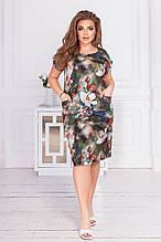 Модное женское летнее платье,размеры:50,52,54,56