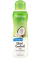 Tropiclean Lime & Coconut Pet Shampoo - шампунь проти линьки для собак і котів 355 мл (202528)