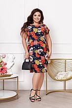 Легкое летнее женское платье,размеры:50,52,54,56,58