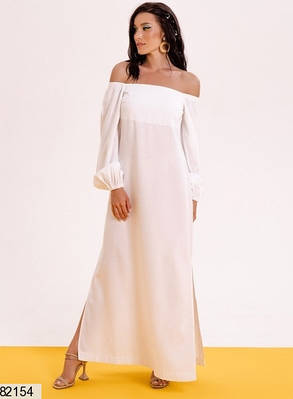 Платье макси из натурального льна