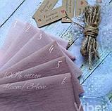 Набор батиста ручного окрашивания  пудрово-коричневая палитра 6шт., фото 2