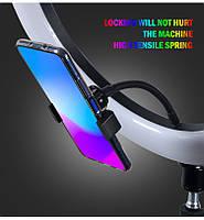 """Кільцева поворотна різнобарвна світлодіодна LED відео селфи лампа RGB 13"""", фото 3"""