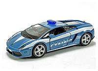 Автомодель (1:32) BburagoStreetFire LAMBORGHINI GALLARDO LP560 POLIZIA 18-43025,(голубой,1:32)