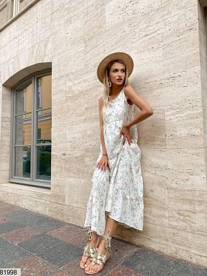 Платье макси из шелкового софта
