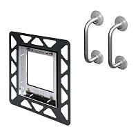 Монтажная рамка для установки стеклянных панелей TECEloop Urinal на уровне стены TECE 9.242.646 белая, фото 1