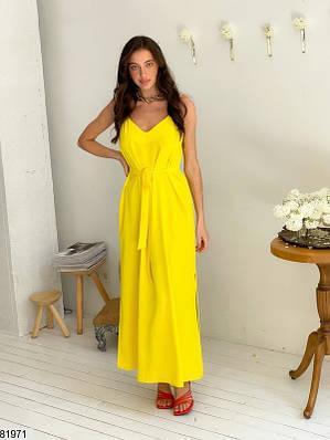 Платье макси из американского крепа