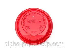 Крышка АР69 поилка КРАСНАЯ с логотипом SМILE, 50 шт/уп, 3000 шт/ящ