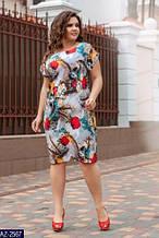 Женское легкое летнее платье,ткань супер софт,размеры:50,52,54,56.