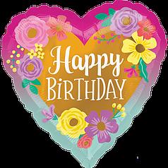 """Серце 18"""" ANAGRAM-АН Happy Birthday - флористика (УП)"""