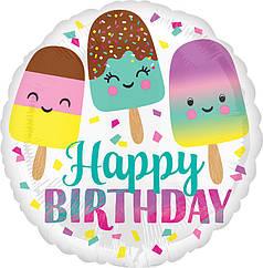 """Коло 18"""" ANAGRAM-АН Happy Birthday - веселе морозиво"""