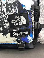 Рюкзак голубой с белым The North Face Supreme. Рюкзаки городские и спортивные. Рюкзаки черные молодежные