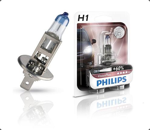 Автолампа PHILIPS 12258VPB1 H1 55W 12V P14,5s VisionPlus, фото 2