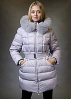 Удлиненный пуховик женский snowimage m302 серый