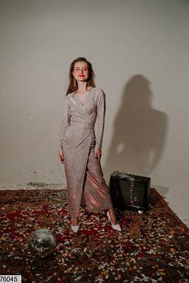 Платье макси из трикотажа с люрексом