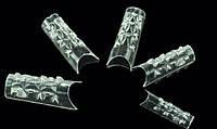 Типсы хрустальные прозрачные 100 шт упаковка, типсы YRE YTH-00, типсы для ногтей купить в Харькове