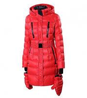 Удлиненный пуховик snowimage b534 красный