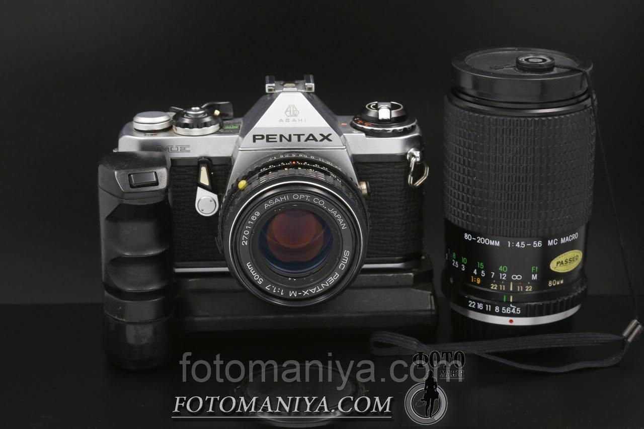Pentax ME kit SMC Pentax-M 50mm f1.7 + Winder ME + Cosina80-200mm f4.5-5.6