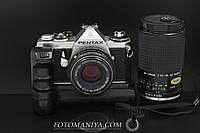 Pentax ME kit SMC Pentax-M 50mm f1.7 + Winder ME + Cosina80-200mm f4.5-5.6, фото 1